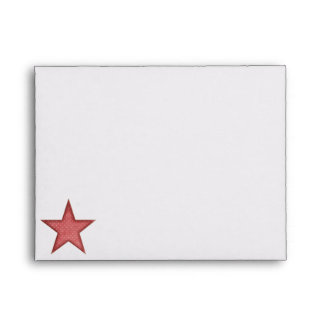 KRW Red Happy Santa Holiday A2 Envelope