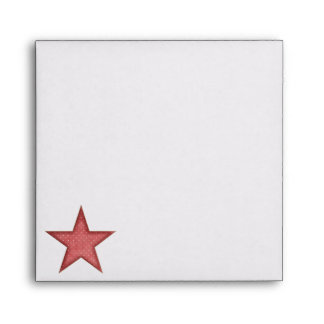 KRW Red Happy Santa Holiday Square Envelope