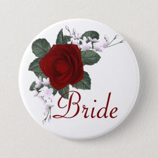 KRW Red Rose Bride Wedding Pin