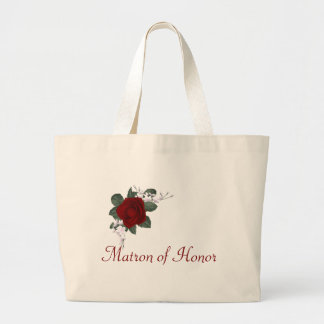 KRW Red Rose Matron of Honor Wedding Tote Bag