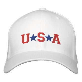 KRW Red White and Blue USA Stars Embroidered embroideredhat