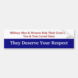 KRW Respect Our Military Bumper Sticker