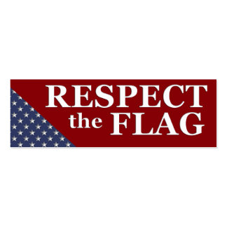 KRW Respect the Flag USA Pride Card Business Cards