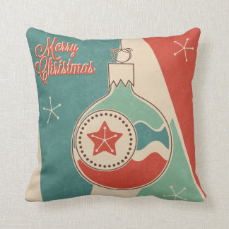 KRW Retro Cool Merry Christmas Ornament Pillow