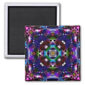 KRW Retro Floral Shimmer Fridge Magnet