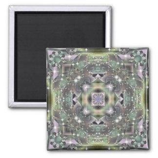 KRW Retro Floral Shimmer Magnets