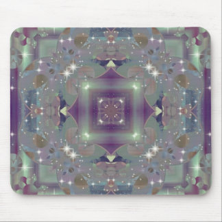 KRW Retro Floral Shimmer Mouse Pad