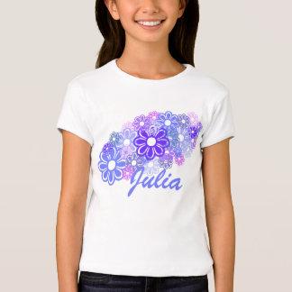 KRW Retro Flower Bunch Custom Name T-Shirt