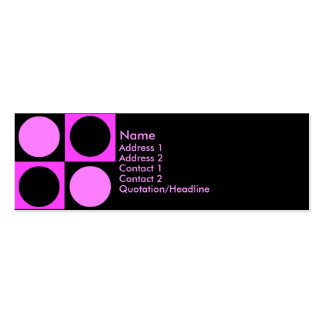 KRW Retro Hot Pink Squares and Circles Business Card