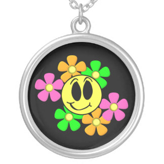 KRW Retro Smilie Face Sterling Silver Necklace