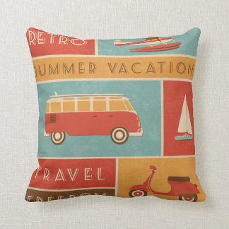 KRW Retro Summer Vacation Travel Pillow