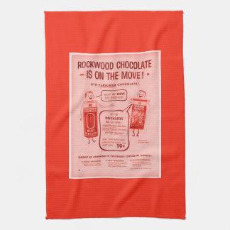 KRW Rockwood Chocolate Co Advertising Dish Towel