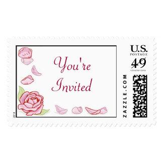 KRW Rose Petal Custom Wedding Stamp