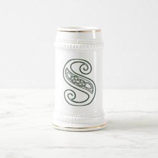 KRW - S - Celtic Monogrammed Stein 18 Oz Beer Stein
