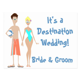 KRW Save the Date Destination Wedding Card Post Card
