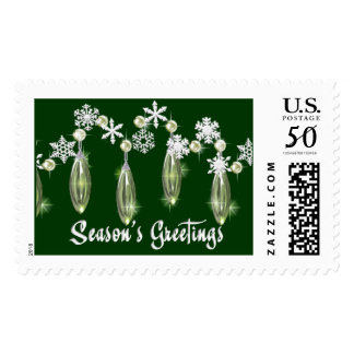 KRW Season's Greetings Snowdrops Holiday Stamp