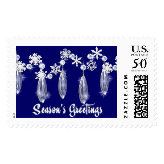 KRW Season's Greetings Snowdrops Postage Blue