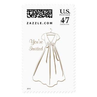 KRW Simple Wedding Dress Invitation Stamp