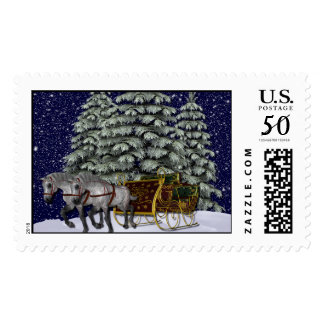 KRW Sleigh Ride Holiday Stamp
