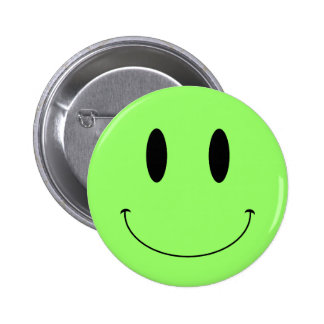 KRW Smiley Face Custom Color Pinback Buttons