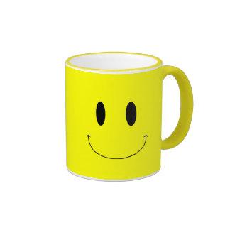KRW Smiley Face Custom Color Ringer Mug