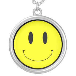 KRW Smilie Face Sterling Silver Necklace