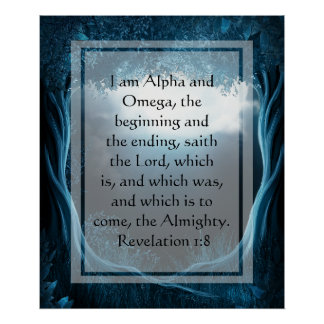 KRW soy la alfa y el poster de Omega Póster