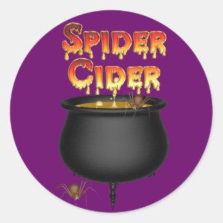 KRW Spider Cider Halloween Round Sticker