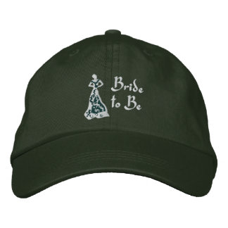 KRW Spruce Green Bride to Be Embroidered Baseball Cap