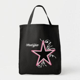 KRW Star and Swirls Diva Custom Name Tote Bag