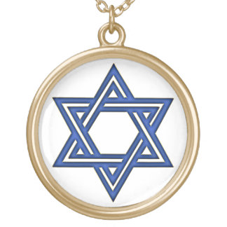 KRW Star of David Blue Gold Necklace