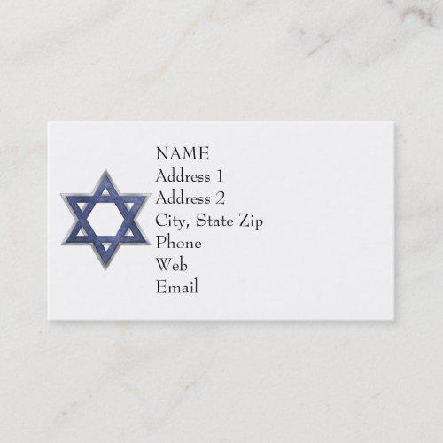 KRW Star of David Custom Business Card Business Card
