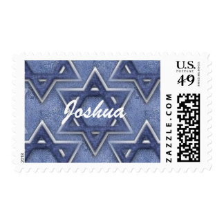 KRW Star of David Custom Name Bar Mitzvah Postage