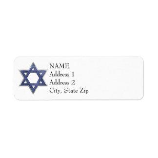 KRW Star of David Custom Return Address Label