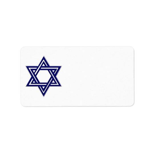 KRW Star of David Hanukkah Blank Address Label