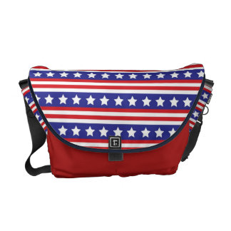 KRW Stars and Stripes Patriotic Messenger Bag