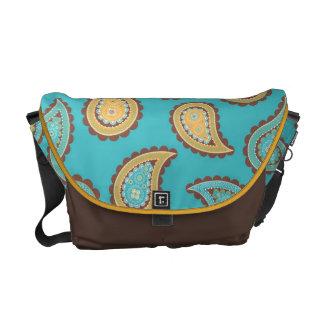 KRW Summer Breeze Paisley Messenger Bag