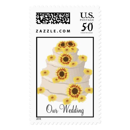 KRW Sunflower Custom Wedding Cake Stamp