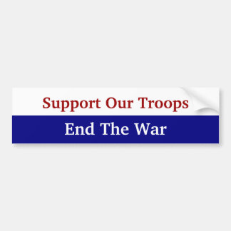 KRW Support Our Troops End The War Car Bumper Sticker