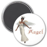 KRW Sweet Angel - African American 3 Inch Round Magnet