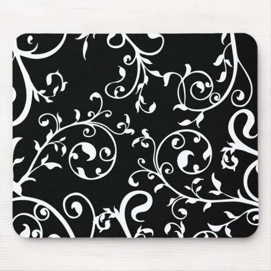 KRW Swirling Vines Mouse Pad