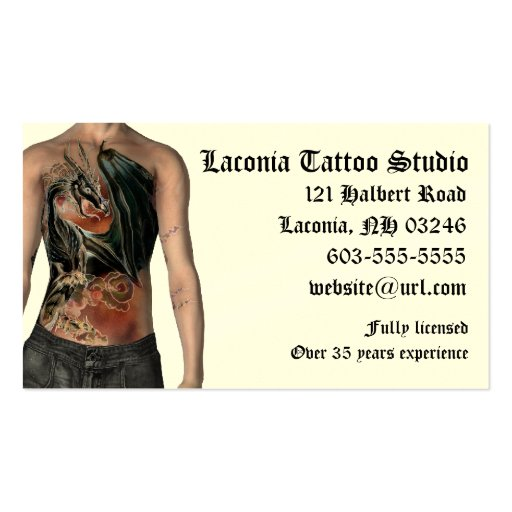 Custom tattoo business card templates page2 bizcardstudio krw tattoo studio custom appointment card business card fbccfo Gallery