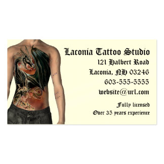 KRW Tattoo Studio Custom Appointment Card Double-Sided Standard Business Cards (Pack Of 100)