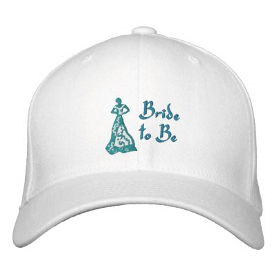 KRW Teal Blue Bride to Be Embroidered Baseball Caps
