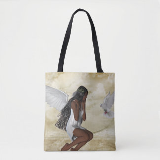 KRW The Angel and the Dove All Over Print Tote Bag