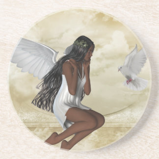 KRW The Angel and the Dove Inspirational Coaster