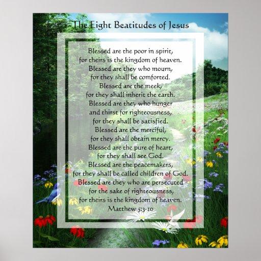 KRW The Eight Beatitudes of Jesus Print