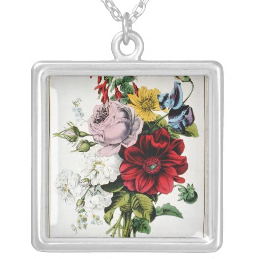 KRW The Nosegay Vintage Sterling Silver Necklace