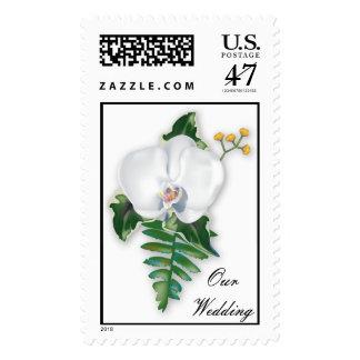 KRW Tropical Flower Custom Wedding Stamp