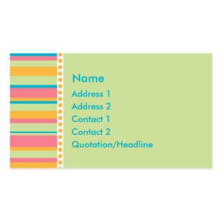 KRW Tropical Stripe Custom Business Card